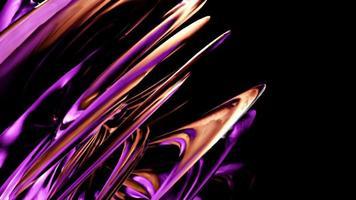 Rotação do laço da engrenagem metálica industrial 3d surreal maquinaria video