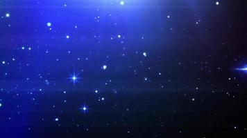 partículas de fondo azul cielo estrellado video