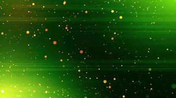 Green Light Shine Particles Background