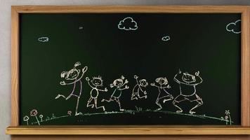 fundo animado crianças felizes