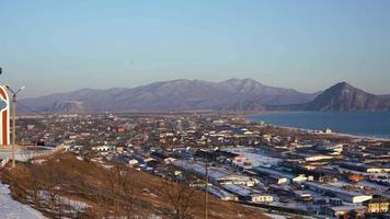 panorama della città di nakhodka, russia