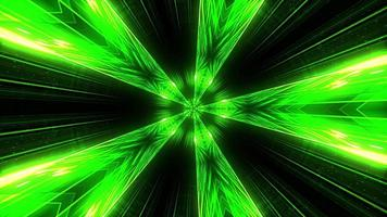 Kaleidoscope Gradient Neon Green Lime Lines Star Rotation