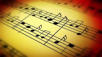 note di musica astratta video