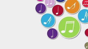 sfondo di note musicali video