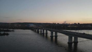 vista aérea del río angara. irkutsk, rusia