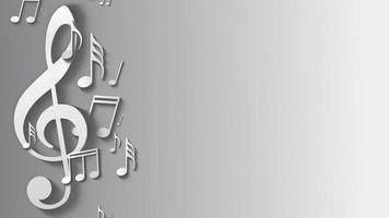 fondo de nota musical blanca