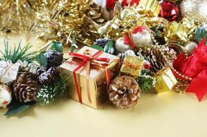 Christmas gift amongst decorations