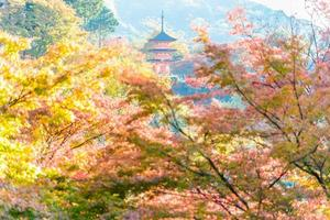 Templo de Kiyomizu Dera en Kioto, Japón foto