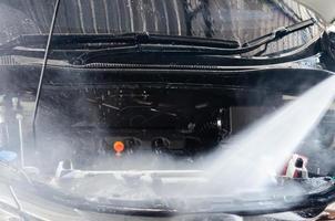 motor de limpieza de lavado de coches foto