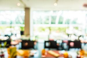 Fondo de restaurante borroso abstracto foto