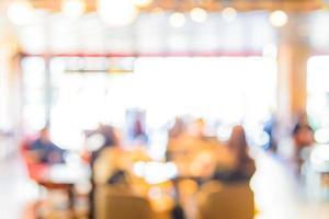 Fondo abstracto borroso cafetería