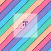 Abstract striped geometric pastel color pattern with shadow background and texture. vector