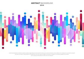 Abstract fluid or liquid colorful rounded lines transition elements on white background with space for your text. vector