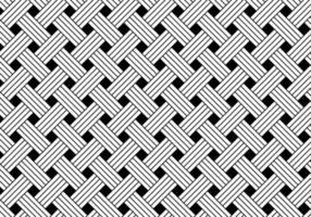 Fondo de patrón de tejido geométrico blanco y negro. textura elegante moderna geométrica rayada abstracta. vector