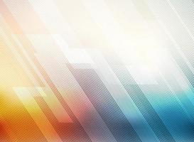 Abstract lines pattern technology on red and blue gradients blurred background. vector