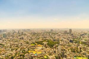 vista aérea de la ciudad de tokio, japón foto