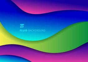 Abstract fluid colorful trendy gradient 3d paper geometric background. vector