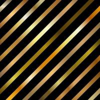 Abstract Golden Gradient Color Diagonal Striped Lines Pattern on Black Background. vector