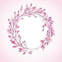 Decorative hand painted watercolour floral circular border design vector