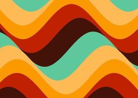 diseño de papel tapiz ondulado de estilo retro vector