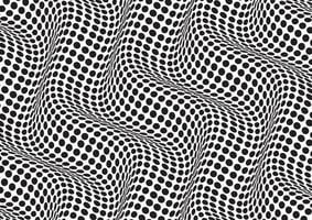 Abstract background with a black and white optical illusion vector