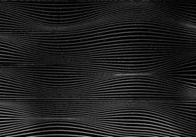 Abstract white wave lines pattern on black background and texture with lighting.