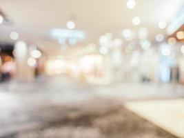 Desenfoque abstracto y fondo desenfocado del centro comercial foto