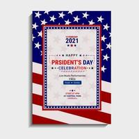 Presidents Day template design