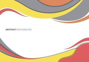 Modern graphic header template wave curved line on white background. vector