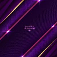 Fondo abstracto a rayas triángulo púrpura y rosa con línea diagonal y textura de efecto de iluminación vector