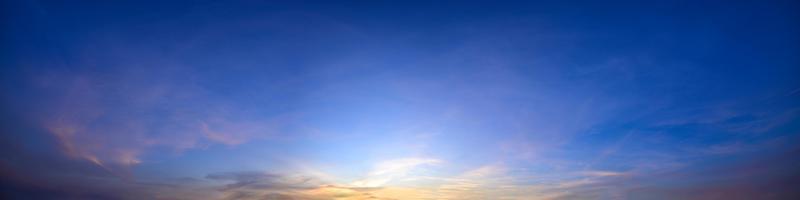 Sky at sunset photo
