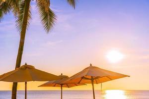 Beautiful tropical nature and umbrellas