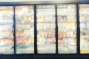 Desenfoque abstracto y desenfoque del interior del centro comercial foto