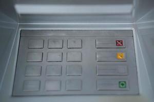 botones del panel táctil del cajero automático foto
