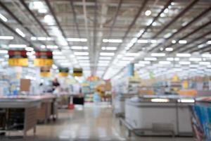 Fondo de tienda de comestibles borrosa foto