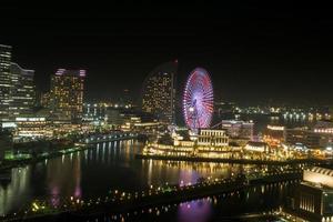 Yokohama, Japan, 2020 - View of Yokohama at night