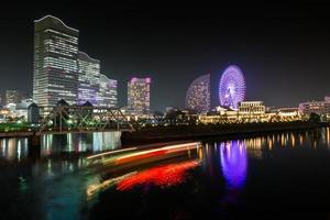 Yokohama, Japan, 2020 - Night cityscape view