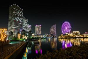 yokohama, japón, 2020 - vista de la ciudad por la noche