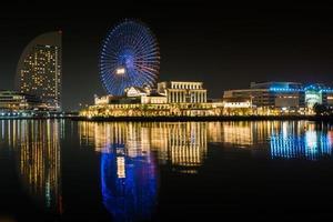 Yokohama, Japan, 2020 - Amusement park at night