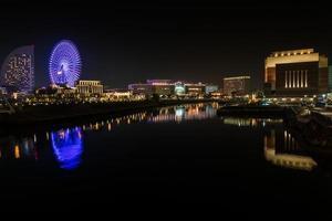 yokohama, japón, 2020 - vista del paisaje urbano por la noche