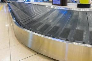 Cinta transportadora de equipaje en el aeropuerto.
