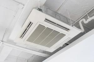 Cassette type air condition with lighting and fire protection system