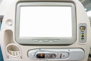 Monitor in passenger seat photo