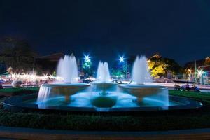 Fountains in Bangkok at night