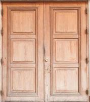 Old brown wooden door photo