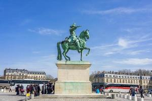 Place d'Armes in front of the Royal Palace of Versailles in France photo