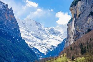 Staubbach waterfall at Lauterbrunnen, Switzerland photo