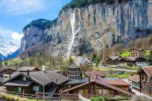 Alpine village Lauterbrunnen in Switzerland photo