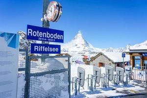 Estación rotenboden en Zermatt, Suiza, 2018