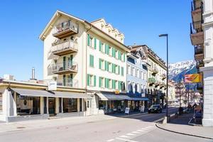 casco antiguo de interlaken, suiza, 2018 foto